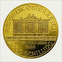 Austrian Philharmonic Gold Coin Reverse - picture